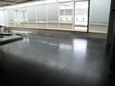 Az edzőterem padlója az edzőgépek zaját nagymértékben átadta a betonfödémnek, ezért az alatta lévő helységben alig lehetett megmaradni.