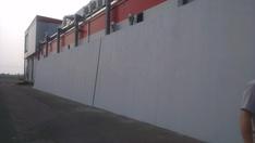 A PhoneStar falelem a beszerelés előtt a helyszínen összeállítva.