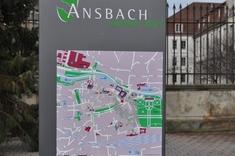Ansbach, a munkavégzés helyszíne.