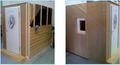 Hangátló kabin építése prezentációs célokra (1.)