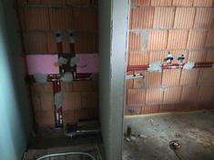 Fürdőszoba fala hangszigetelés előtt