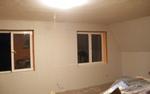 A szoba két falának hangszigetelése egy nap alatt elkészült.