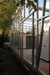 Betonalaphoz rögzítettük a rozsdamentes szerkezetet.